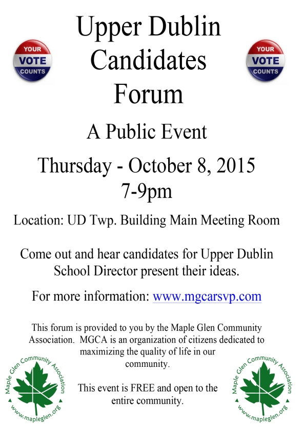 2015 UD Candidates Forum final