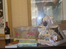 Donated gifts for the fundraising auction